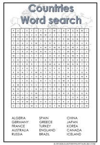 Countries Word Search