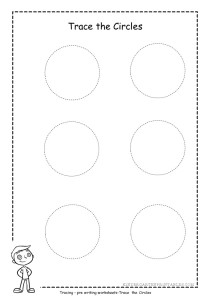 Trace Circle Worksheet