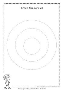 Circle tracing worksheet 2