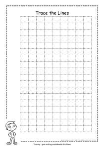 Grid Tracing Worksheet Free Printable