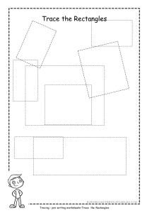 Rectangle tracing worksheet 4