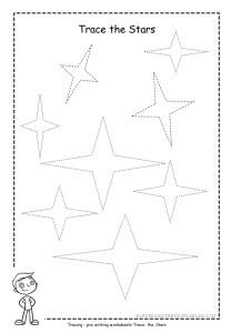 Star tracing worksheet 4