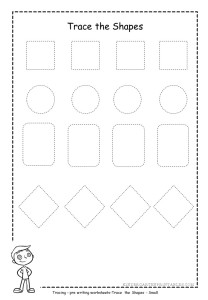 small shape tracing worksheets