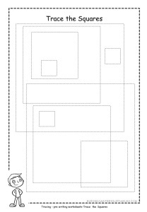 square shape tracing worksheets