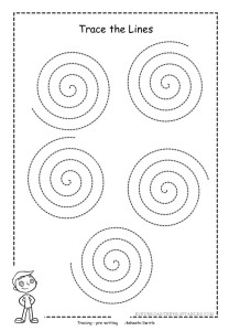 Swirl Tracing Sheet X on printable shape tracing sheets
