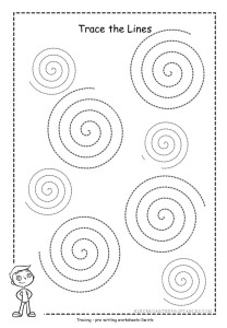 sprial tracing worksheet printable