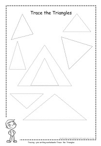 triangle tracing worksheets kindergarten printables. Black Bedroom Furniture Sets. Home Design Ideas