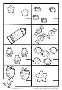 Printables Free Counting Worksheets 1-20 counting worksheets 1 20 kindergarten printables