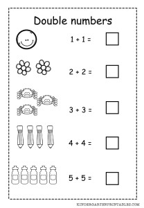 math worksheet : double numbers worksheet  kindergarten printables : Addition Doubles Worksheets