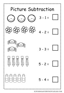 math worksheet : basic picture subtraction worksheet : Basic Subtraction Worksheet