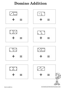 math worksheet : domino addition worksheet  kindergarten printables : Printable Addition Worksheets