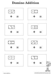 math worksheet : domino addition worksheet  kindergarten printables : Domino Math Worksheet