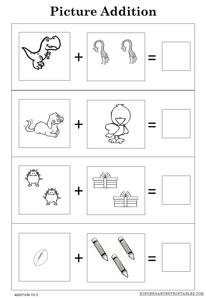 Addition Worksheets practice addition worksheets : Free Picture addition worksheets to 5 printables -