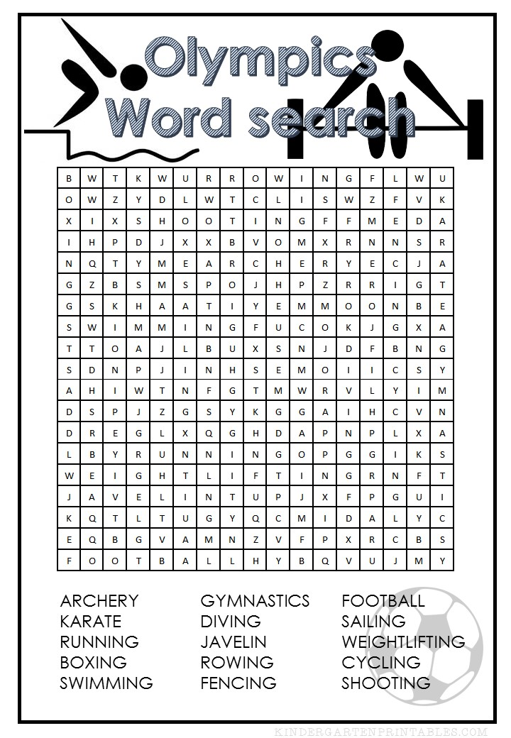 olympics word search. Black Bedroom Furniture Sets. Home Design Ideas