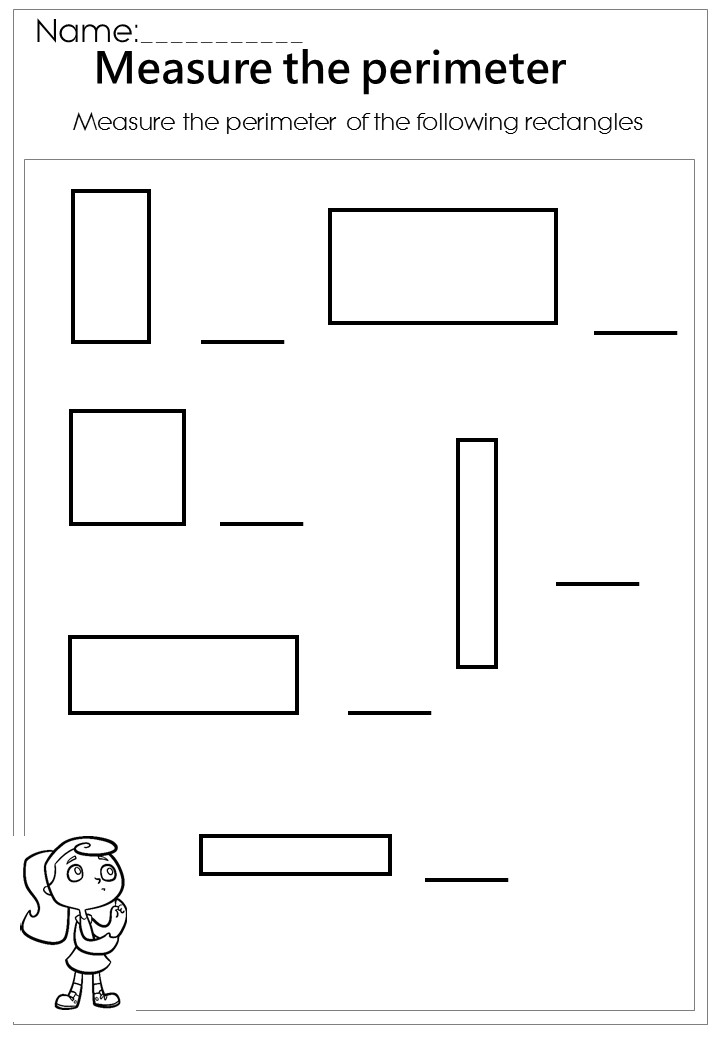 Measure the rectangle perimeter worksheet -