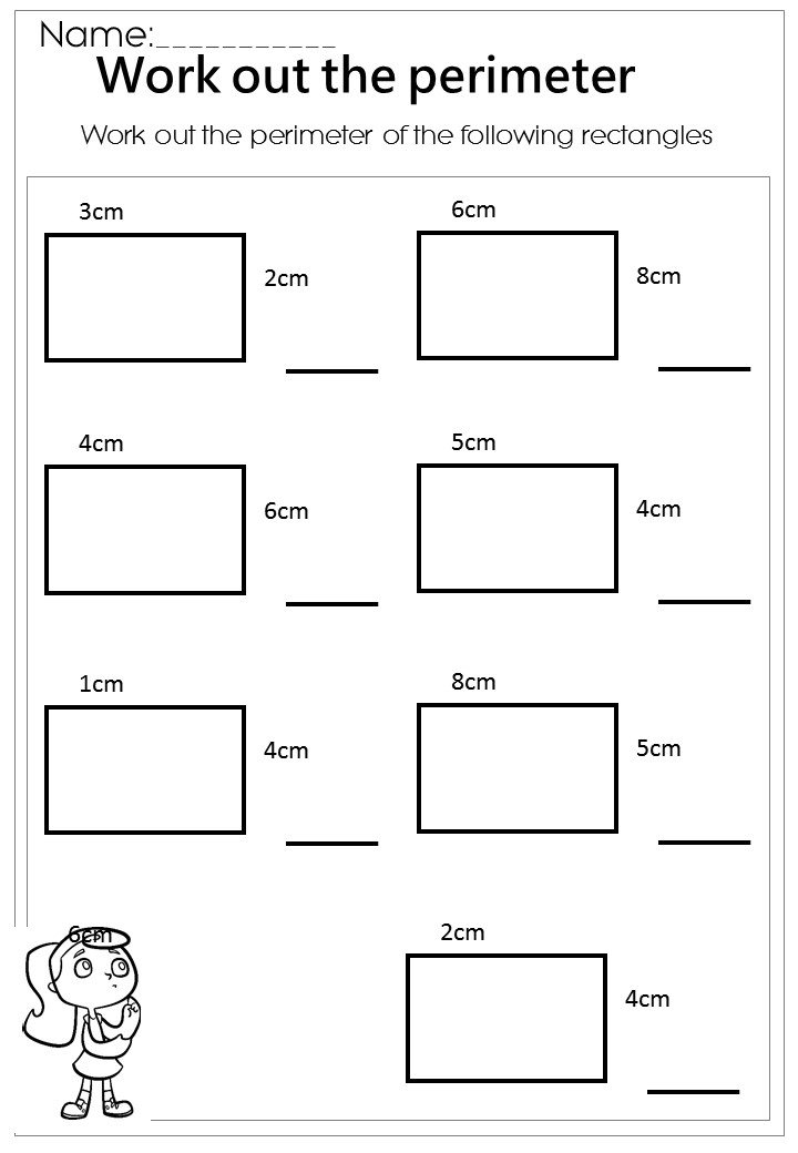Area perimeter worksheets ks2