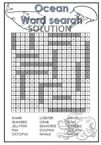 printable ocean word search