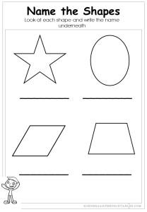 Name the shapes worksheet