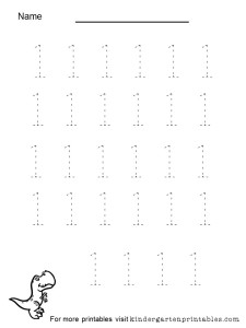 tracing numbers 1 to 5 worksheet