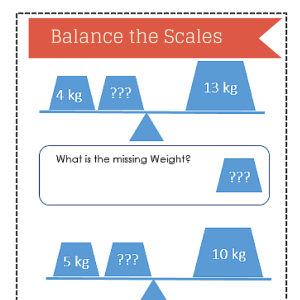 Balance the Scales worksheet
