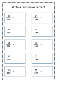 fraction to percent worksheet
