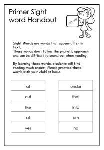 primer sight words worksheets