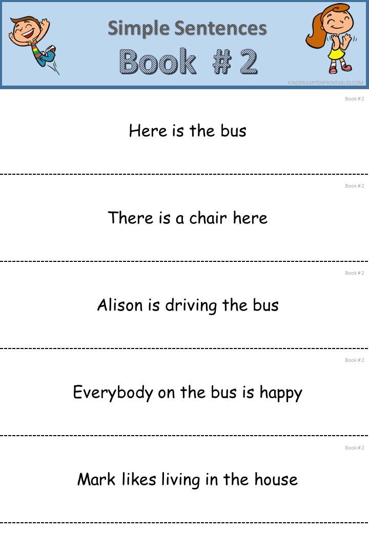 Simple Sentences for Kindergarten