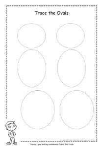 Oval tracing worksheet 4