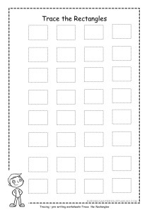 Rectangle tracing worksheet 3
