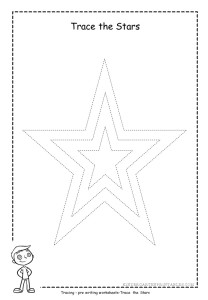 Star tracing worksheet 2