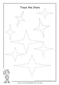 Star tracing worksheet 4