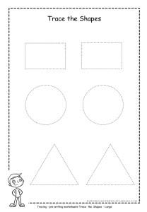 trace large shapes worksheet