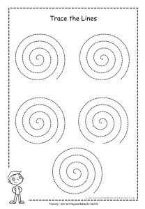 spiral tracing worksheets