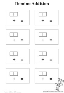 Domino addition worksheet template