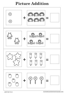 Free Picture Addition Worksheets