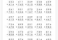 3 digit addition worksheets