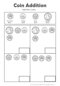Add the Coins Worksheets