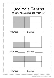 Decimals Tenths Worksheets