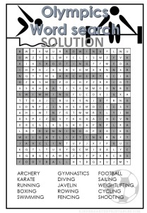 Olympics Word Search