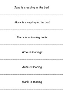 Reading Slips - Time for Bed