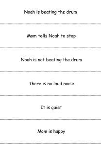 Reading slip series - beat the drum