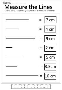 Measure lines worksheet