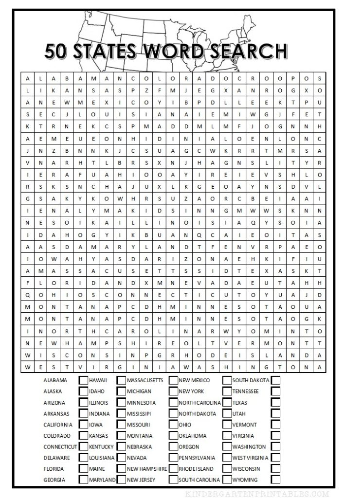 50 states word search
