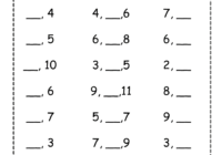 Before Between and After number worksheet